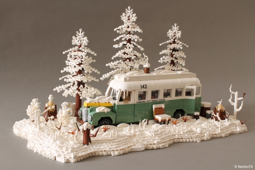 Snowy Magic Bus