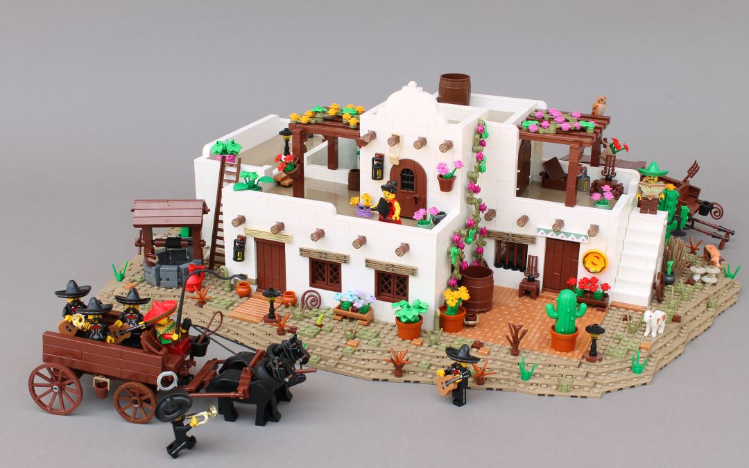Mariachi wagon and Mexican house