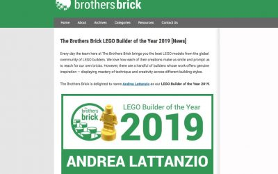 Andrea Lattanzio (Norton74) named LEGO Builder of the year 2019 by The Brothers Brick