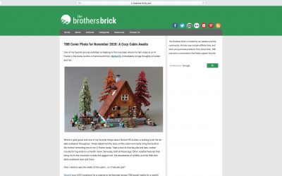 The A-Frame Cabin is The Brothers Brick cover photo for November 2020!