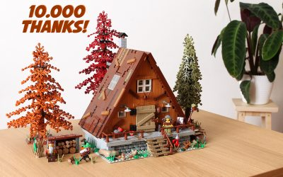 A-frame Cabin reaches 10K supporters on LEGO Ideas!